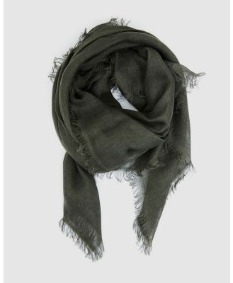 Cloth & Co. - Hand Loomed Linen Scarf - Scarves & Gloves (Forest) Hand Loomed Linen Scarf