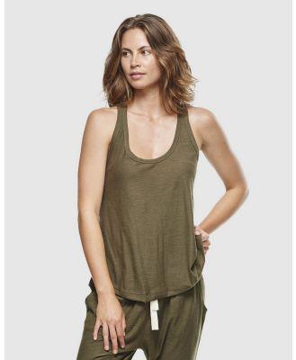 Cloth & Co. - Organic Cotton Slub Singlet - T-Shirts & Singlets (Olive) Organic Cotton Slub Singlet