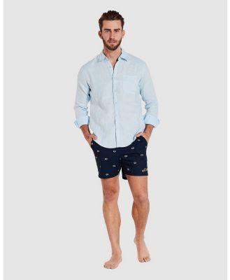Coast Clothing - Long Sleeve Linen Shirt - Casual shirts (Blue) Long Sleeve Linen Shirt