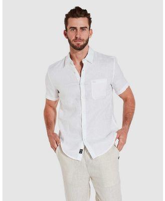 Coast Clothing - Short Sleeve Linen Shirt - Casual shirts (White) Short Sleeve Linen Shirt