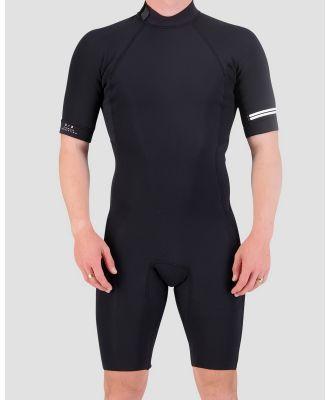 Coastlines - Classic Mens 2mm Back Zip Springsuit - Sports Equipment (Black) Classic Mens 2mm Back Zip Springsuit