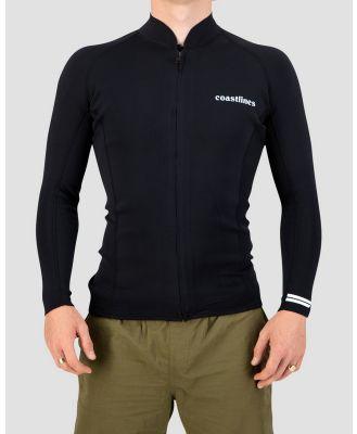 Coastlines - Classic Mens 2mm Jacket - Sports Equipment (Black) Classic Mens 2mm Jacket