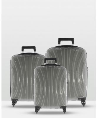 Cobb & Co - Adelaide Luggage 3 Piece Hardside Spinner - Travel and Luggage (GREY) Adelaide Luggage 3 Piece Hardside Spinner