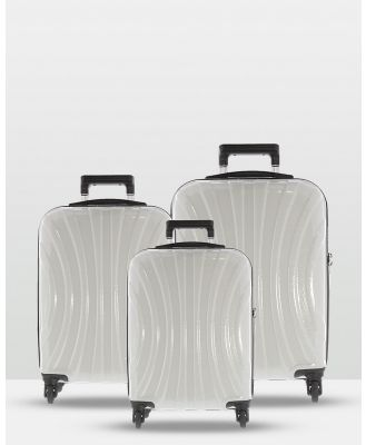 Cobb & Co - Adelaide Luggage 3 Piece Hardside Spinner - Travel and Luggage (WHITE) Adelaide Luggage 3 Piece Hardside Spinner