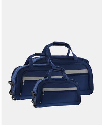 Cobb & Co - Devonport Wheel Bag   3 Piece Set - Travel and Luggage (Blue) Devonport Wheel Bag - 3 Piece Set