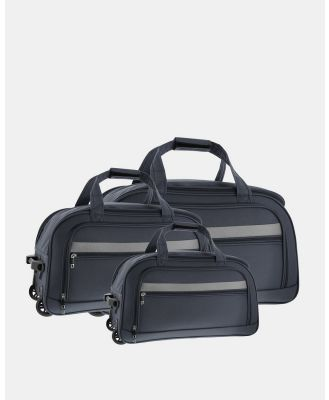 Cobb & Co - Devonport Wheel Bag 3 Piece Set - Travel and Luggage (GREY) Devonport Wheel Bag 3 Piece Set
