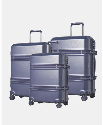 Cobb & Co - Sydney Polycarbonate Luggage 3 Piece Set - Bags (BLUE) Sydney Polycarbonate Luggage 3 Piece Set