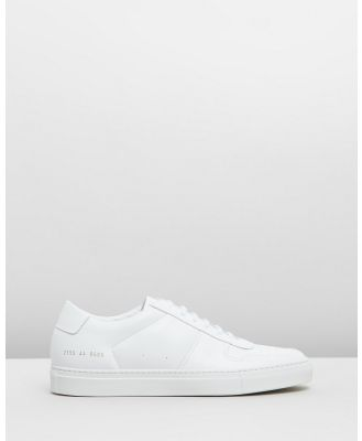 Common Projects - Bball Low Leather   Men's - Sneakers (White) Bball Low Leather - Men's
