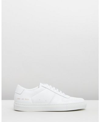 Common Projects - Bball Low Leather   Women's - Sneakers (White) Bball Low Leather - Women's