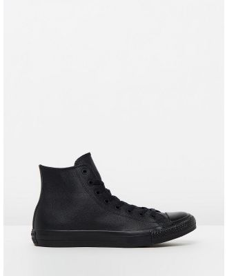 Converse - Chuck Taylor All Star Leather Hi   Unisex - Sneakers (Black Monochrome Leather) Chuck Taylor All Star Leather Hi - Unisex