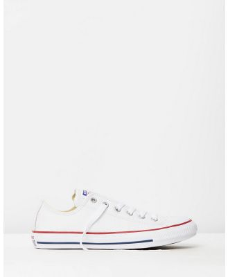 Converse - Chuck Taylor All Star Leather Ox - Sneakers (Optical White) Chuck Taylor All Star Leather Ox
