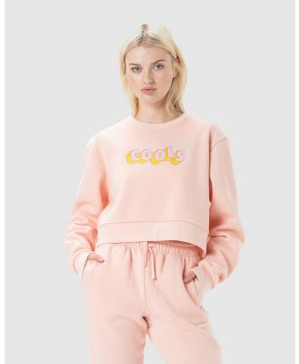 Cools Club - Retro Cools Crew Fleece - Sweats (Pink) Retro Cools Crew Fleece