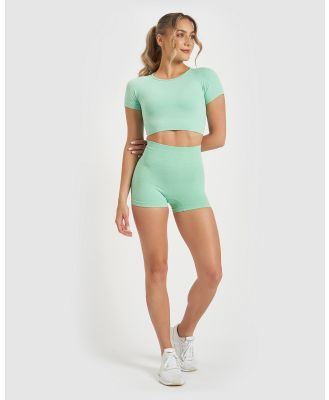 Core Trainer - Charlie Active Booty Shorts - Sports Tights (Mint) Charlie Active Booty Shorts