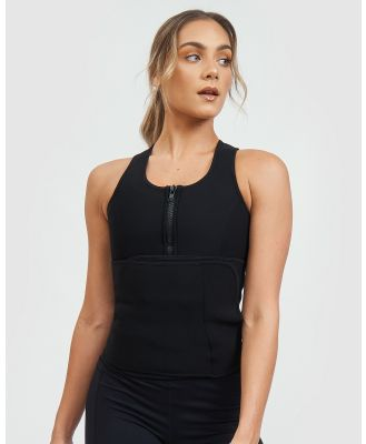 Core Trainer - Non Latex Waist Singlet - Lingerie (Black) Non Latex Waist Singlet