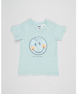 Cotton On Baby - Jamie Short Sleeve Tee   Babies - T-Shirts & Singlets (Duck Egg & Happy Smiley Planet) Jamie Short Sleeve Tee - Babies