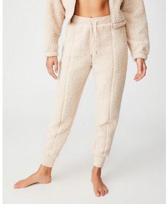 Cotton On Body - Sherpa Lounge Pants - Sweatpants (Sand Shell) Sherpa Lounge Pants
