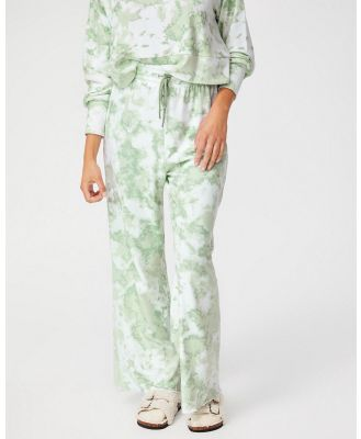 Cotton On Body - Super Soft Relaxed Pants - Sweatpants (Tie Dye Mint) Super Soft Relaxed Pants