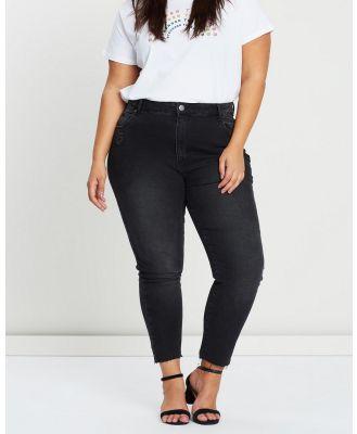 Cotton On Curve - Curve Taylor Mom Jeans - Crop (Black Rip) Curve Taylor Mom Jeans