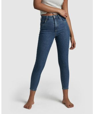Cotton On - High Rise Cropped Skinny Jeans - High-Waisted (Coogee Blue) High-Rise Cropped Skinny Jeans
