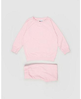 Cotton On Kids - Sadiye Long Sleeve Pyjama Set   Kids - Two-piece sets (Space Dye & Crystal Pink) Sadiye Long Sleeve Pyjama Set - Kids