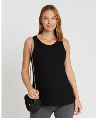 Cotton On Maternity - Maternity Everyday Girlfriend Tank   The Iconic Exclusive - Maternity Singlets (Black) Maternity Everyday Girlfriend Tank - The Iconic Exclusive