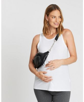 Cotton On Maternity - Maternity Everyday Girlfriend Tank   The Iconic Exclusive - Maternity Singlets (White) Maternity Everyday Girlfriend Tank - The Iconic Exclusive