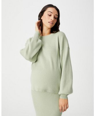 Cotton On Maternity - Maternity Friendly Ultimate Pullover - Jumpers & Cardigans (Sage) Maternity Friendly Ultimate Pullover