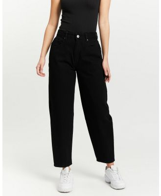 Cotton On Petite - Petite Slouch Mom Jeans - High-Waisted (Black) Petite Slouch Mom Jeans