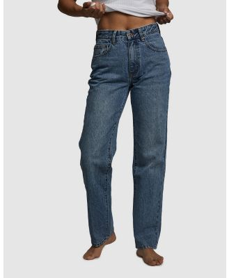 Cotton On Petite - Petite Straight Jeans - Relaxed Jeans (Jetty Blue) Petite Straight Jeans