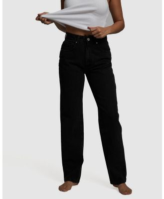 Cotton On Petite - Petite Straight Jeans - Relaxed Jeans (Midnight Black) Petite Straight Jeans