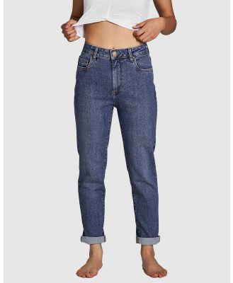 Cotton On Petite - Petite Stretch Mom Jeans - Mom Jeans (Blue) Petite Stretch Mom Jeans