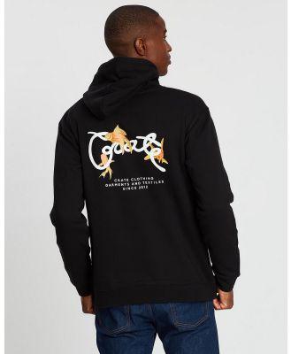Crate - Scripted Goldfish Hoodie - Hoodies (Black) Scripted Goldfish Hoodie