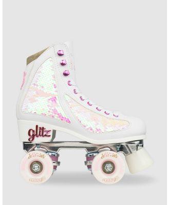 Crazy Skates - Disco Glitz - Performance Shoes (White) Disco Glitz