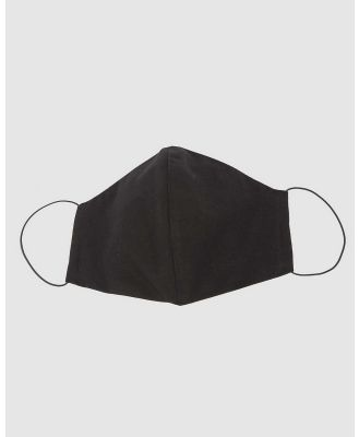 Cupid's Millinery - Reusable Cotton Face Mask - Wellness (Black) Reusable Cotton Face Mask