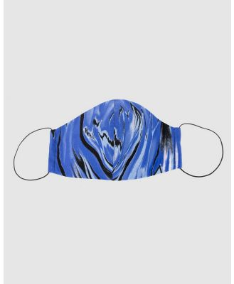 Cupid's Millinery - Reusable Cotton Face Mask - Wellness (blue) Reusable Cotton Face Mask