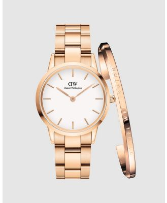 Daniel Wellington - Gift Set   Iconic Link 32mm + Classic Bracelet Small - Watches (Rose gold) Gift Set - Iconic Link 32mm + Classic Bracelet