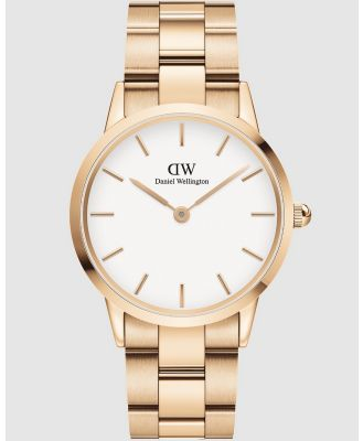 Daniel Wellington - Iconic Link 36mm - Watches (Rose gold) Iconic Link 36mm