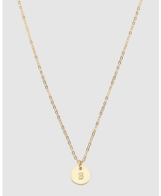Dear Addison - Initial B Letter Necklace - Jewellery (Gold) Initial B Letter Necklace