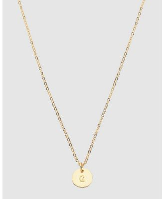 Dear Addison - Initial G Letter Necklace - Jewellery (Gold) Initial G Letter Necklace