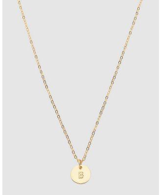 Dear Addison - Kids - Letter B Necklace - Jewellery (Gold) Letter B Necklace
