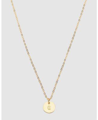 Dear Addison - Kids - Letter G Necklace - Jewellery (Gold) Letter G Necklace