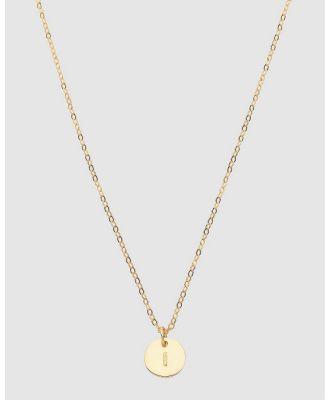 Dear Addison - Kids - Letter I Necklace - Jewellery (Gold) Letter I Necklace
