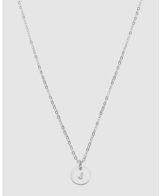 Dear Addison - Kids - Letter J Necklace - Jewellery (Silver) Letter J Necklace