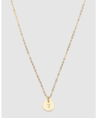 Dear Addison - Kids - Letter T Necklace - Jewellery (Gold) Letter T Necklace