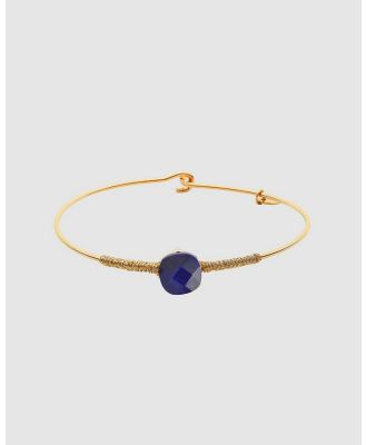Dear Addison - Something Blue Bangle - Jewellery (Gold) Something Blue Bangle