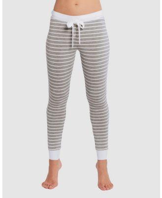Deshabille Sleepwear  - Betty PJ Leggings - Sleepwear (Grey Marle / White) Betty PJ Leggings
