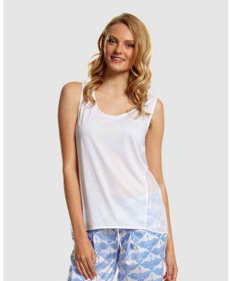 Deshabille Sleepwear  - Emily Top - Sleepwear (White) Emily Top