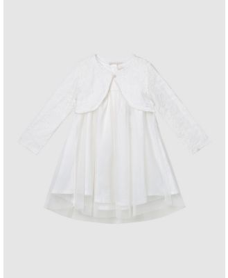 Designer Kidz - Connie Christening Dress & Cardigan Set - Dresses (Ivory) Connie Christening Dress & Cardigan Set