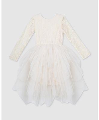 Designer Kidz - Sophie L S Lace Bodice Tutu Dress - Dresses (Beige) Sophie L-S Lace Bodice Tutu Dress