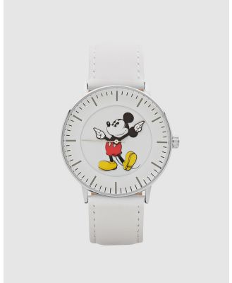 Disney - Formal Mickey Silver Watch - Watches (White) Formal Mickey Silver Watch